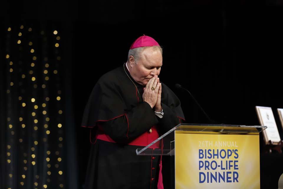 Bishops Burns at Pro-Life Dinner